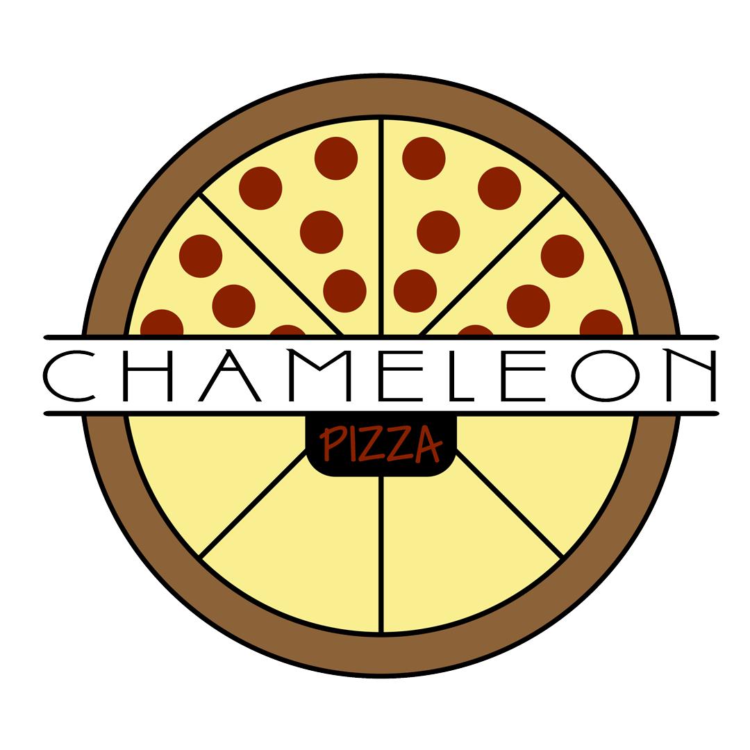 Logo for Chameleon Pizza delivery restaurant in Cincinnati