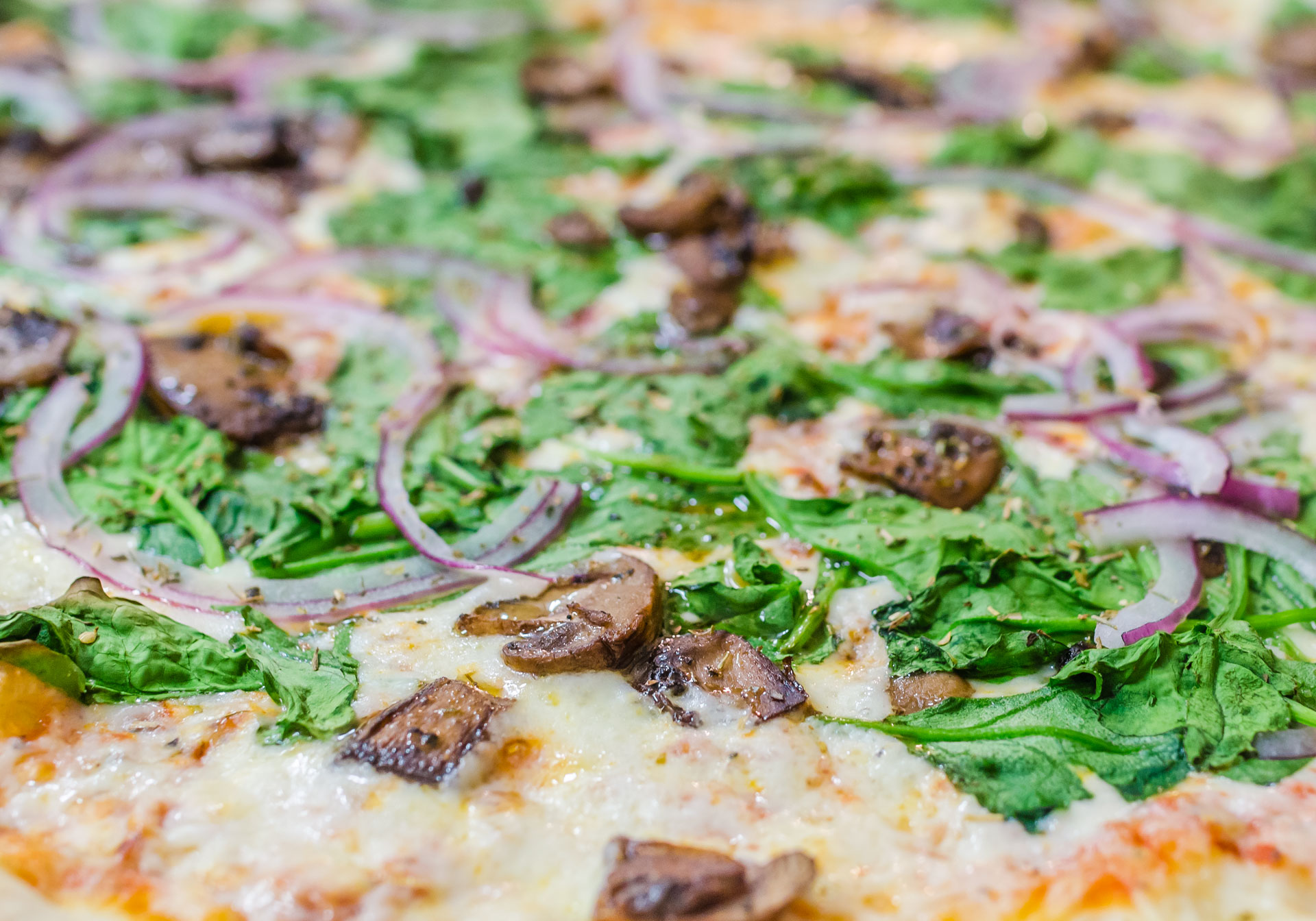 Whether you like pizza, chicken wings or cheese fries, we use only the freshest ingredients and make everything from scratch. From roasting vegetables for our dipping sauces, to making fresh dough each day, we put extra care into our cooking. All our food is available for delivery, so order online today!